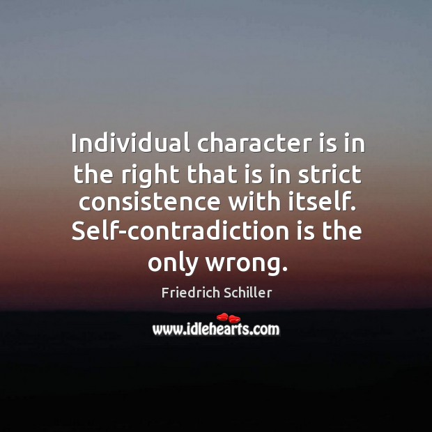 Image, Individual character is in the right that is in strict consistence with