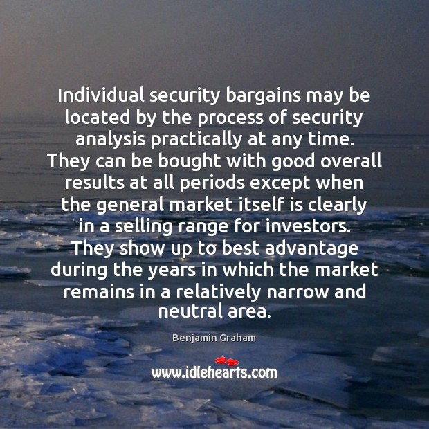 Image, Individual security bargains may be located by the process of security analysis