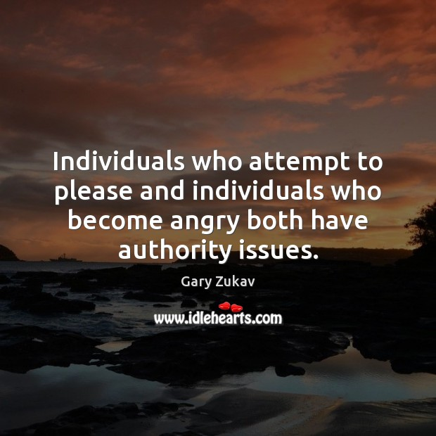 Individuals who attempt to please and individuals who become angry both have Image