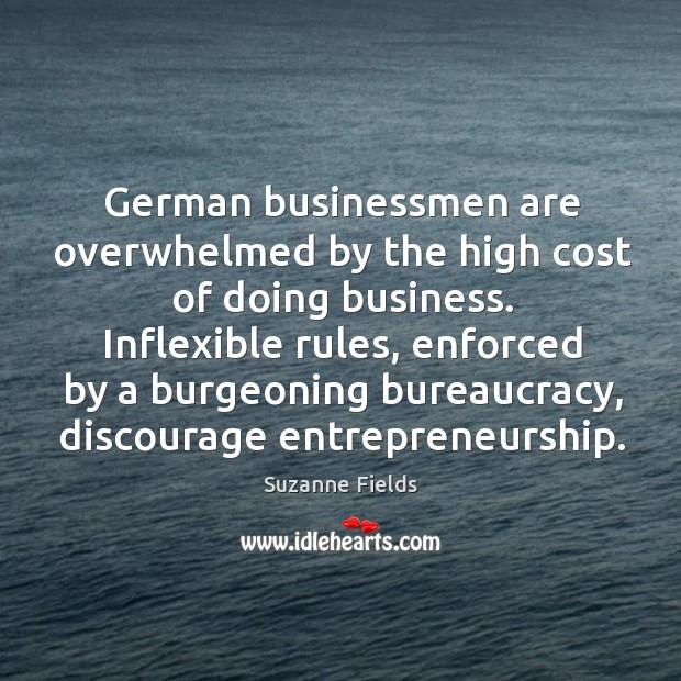 Inflexible rules, enforced by a burgeoning bureaucracy, discourage entrepreneurship. Image