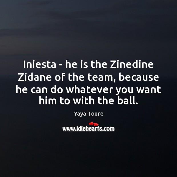 Image, Iniesta – he is the Zinedine Zidane of the team, because he