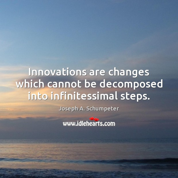 Image, Innovations are changes which cannot be decomposed into infinitessimal steps.