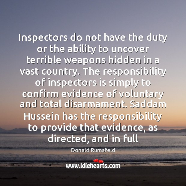 Inspectors do not have the duty or the ability to uncover terrible Image