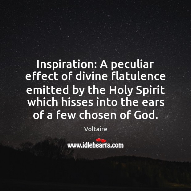 Image, Inspiration: A peculiar effect of divine flatulence emitted by the Holy Spirit