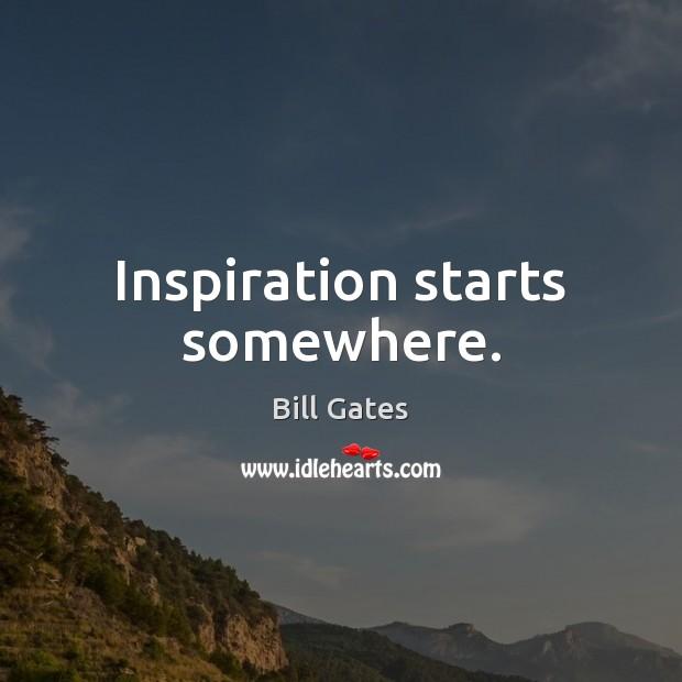 Inspiration starts somewhere. Image