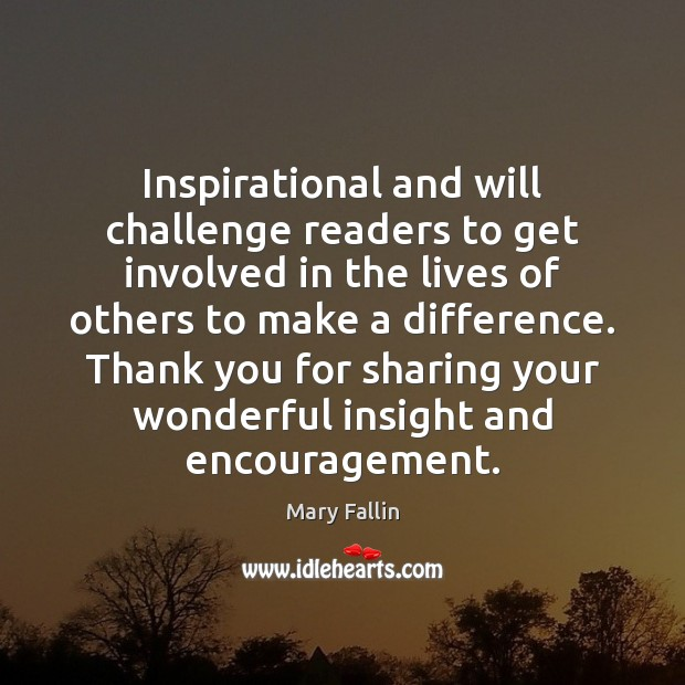 Inspirational and will challenge readers to get involved in the lives of Image