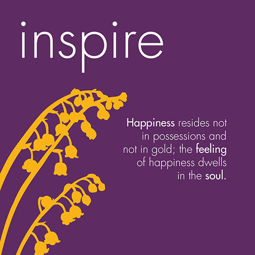 Happiness resides in the soul Image