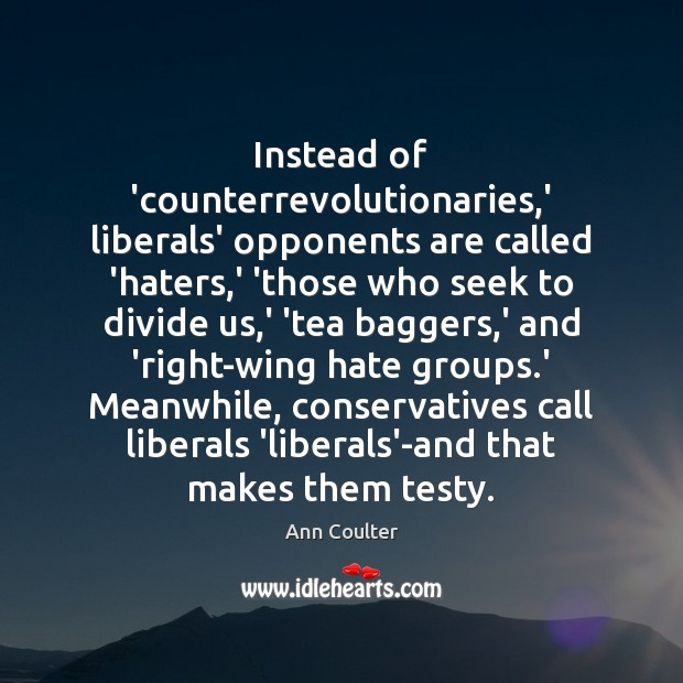 Image, Instead of 'counterrevolutionaries,' liberals' opponents are called 'haters,' 'those who