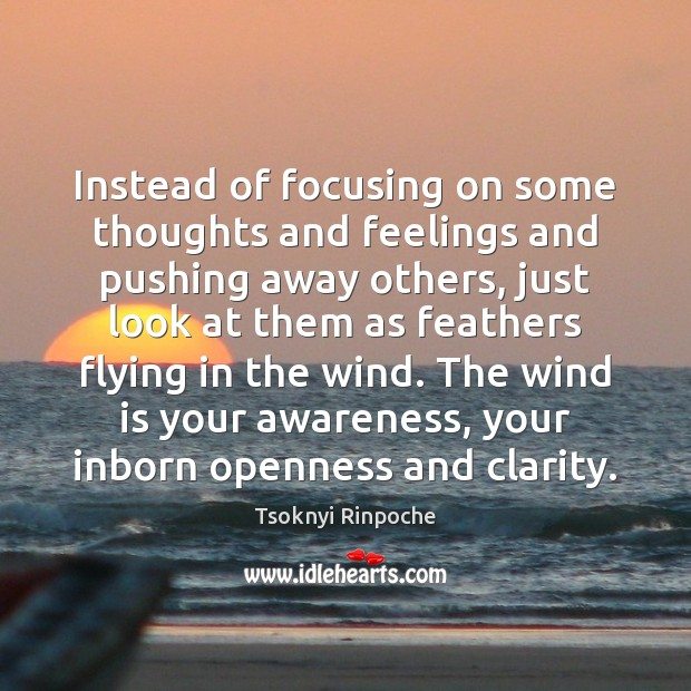 Instead of focusing on some thoughts and feelings and pushing away others, Image