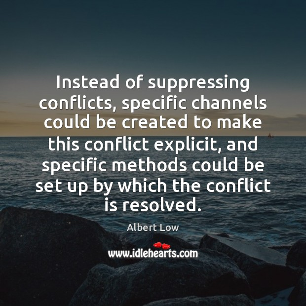 Image, Instead of suppressing conflicts, specific channels could be created to make this