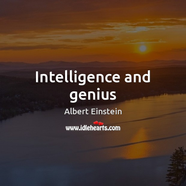 Intelligence and genius Image