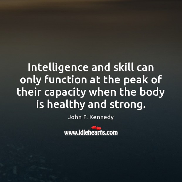 Image, Intelligence and skill can only function at the peak of their capacity