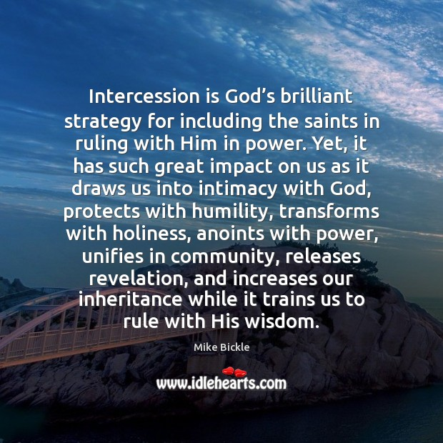 Image, Intercession is God's brilliant strategy for including the saints in ruling