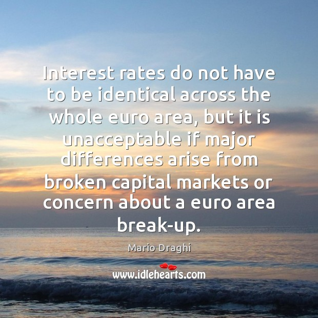Interest rates do not have to be identical across the whole euro Image