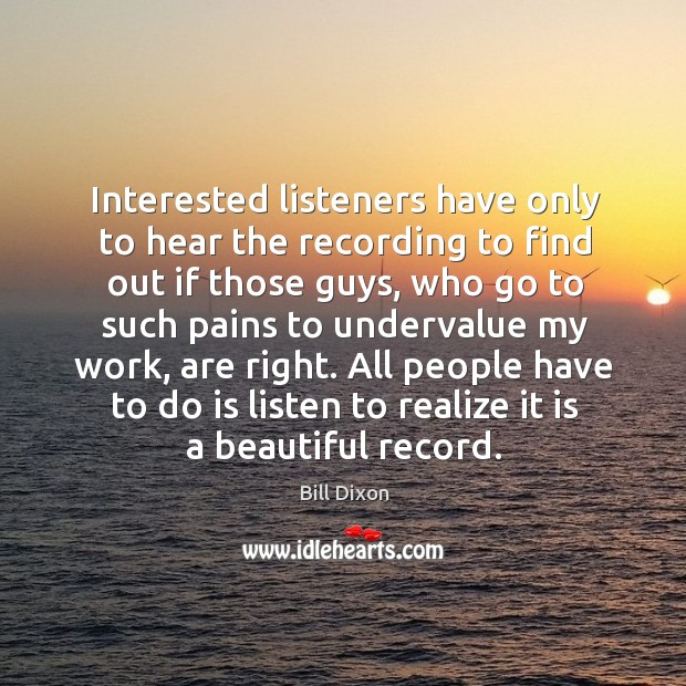 Image, Interested listeners have only to hear the recording to find out if those guys