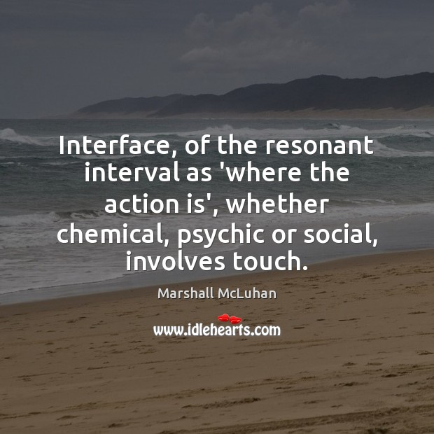 Interface, of the resonant interval as 'where the action is', whether chemical, Image
