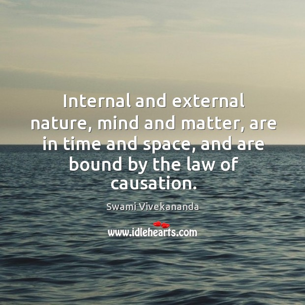 Internal and external nature, mind and matter, are in time and space, Image