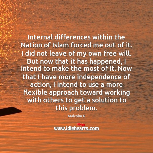 Internal differences within the Nation of Islam forced me out of it. Image