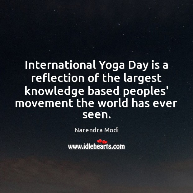 International Yoga Day is a reflection of the largest knowledge based peoples' Image