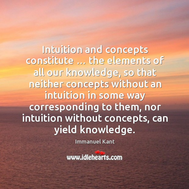 Intuition and concepts constitute … the elements of all our knowledge Image