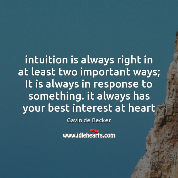 Image, Intuition is always right in at least two important ways; It is