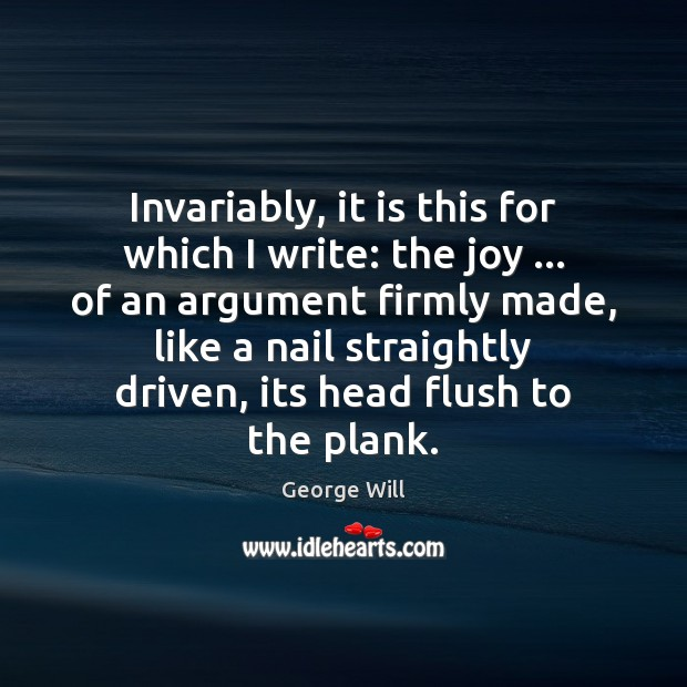 Invariably, it is this for which I write: the joy … of an Image