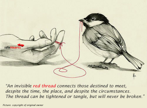 Image, An invisible red thread connects those who are destined to meet.