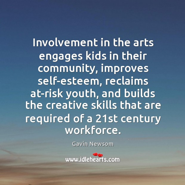 Image, Involvement in the arts engages kids in their community