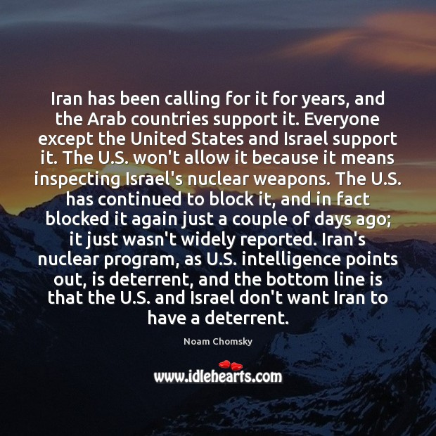Image, Iran has been calling for it for years, and the Arab countries