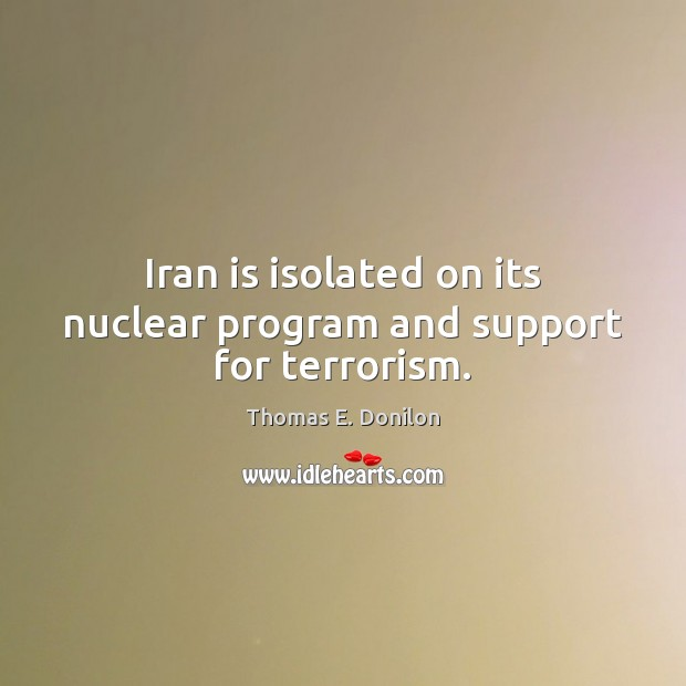 Iran is isolated on its nuclear program and support for terrorism. Image