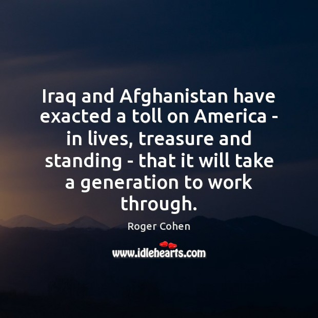Iraq and Afghanistan have exacted a toll on America – in lives, Image