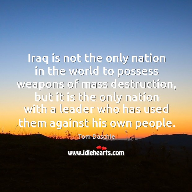 Image, Iraq is not the only nation in the world to possess weapons of mass destruction