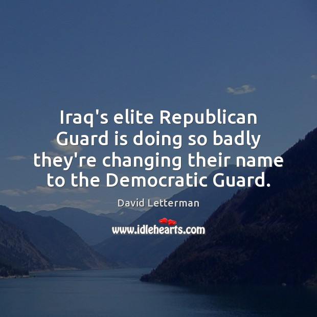 Iraq's elite Republican Guard is doing so badly they're changing their name Image