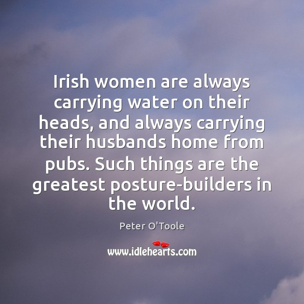 Irish women are always carrying water on their heads, and always carrying Image