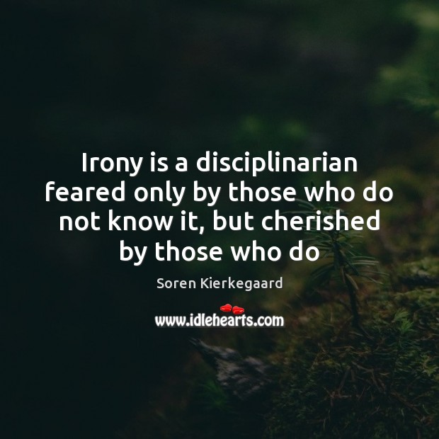 Irony is a disciplinarian feared only by those who do not know Image