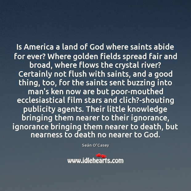 Is America a land of God where saints abide for ever? Where Image