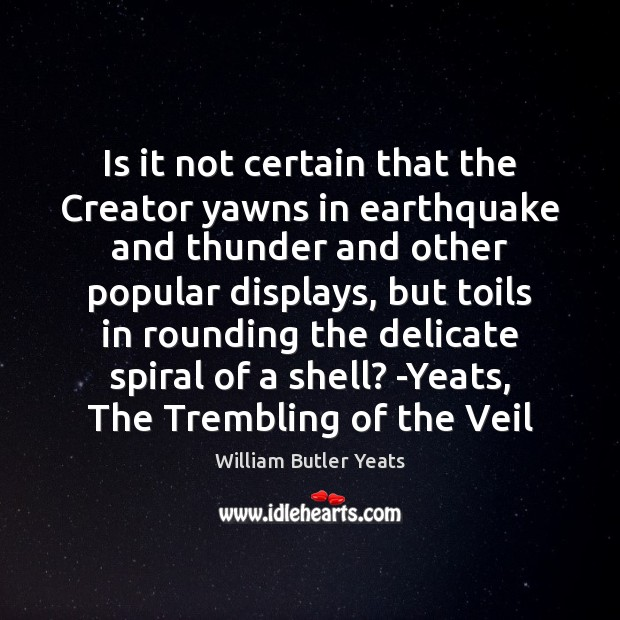 Is it not certain that the Creator yawns in earthquake and thunder Image