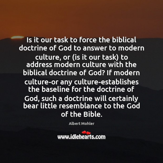 Image, Is it our task to force the biblical doctrine of God to