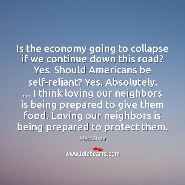 Image, Is the economy going to collapse if we continue down this road?