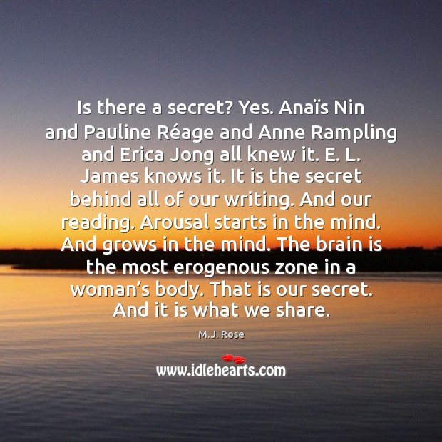 Image, Is there a secret? Yes. Anaïs Nin and Pauline Réage