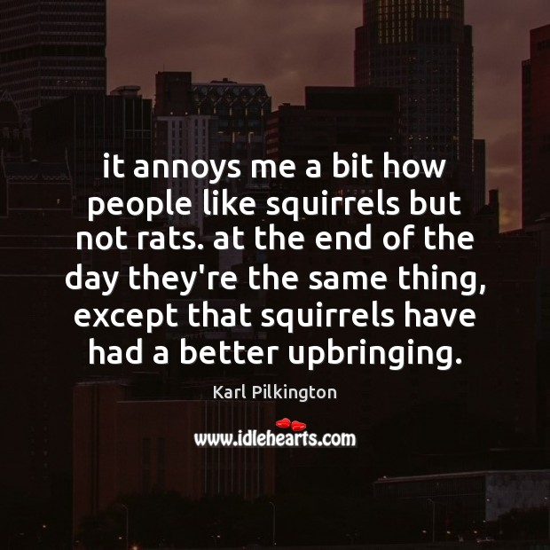 It annoys me a bit how people like squirrels but not rats. Image