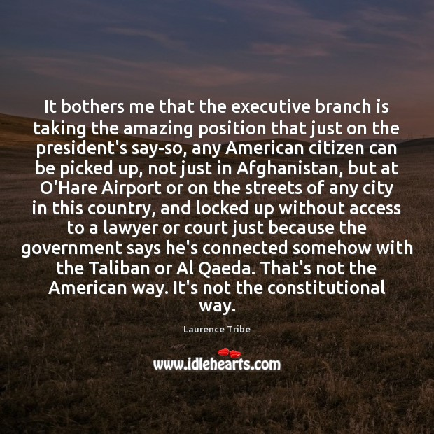 Image, It bothers me that the executive branch is taking the amazing position