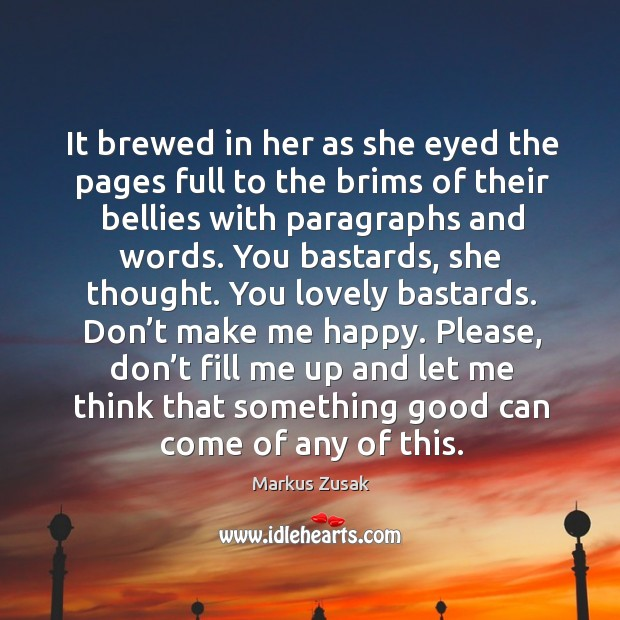 It brewed in her as she eyed the pages full to the Image