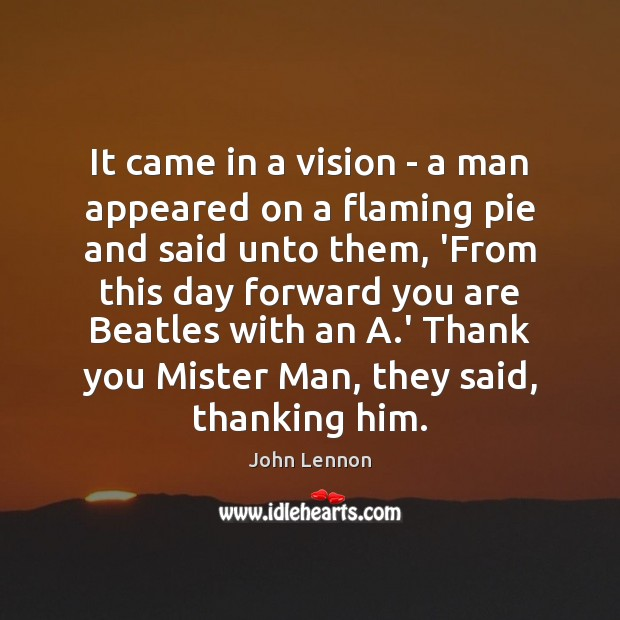 Image, It came in a vision – a man appeared on a flaming