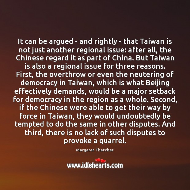 It can be argued – and rightly – that Taiwan is not Image