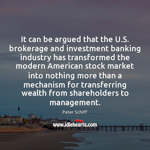 It can be argued that the U.S. brokerage and investment banking Image