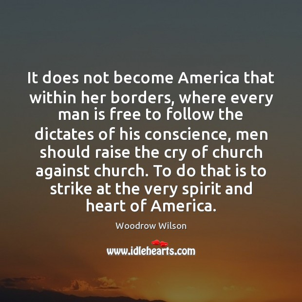 Image, It does not become America that within her borders, where every man