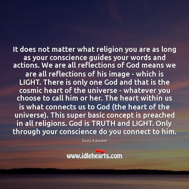 It does not matter what religion you are as long as your Image