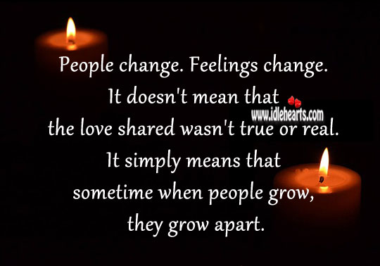 Image, People change. Feelings change.