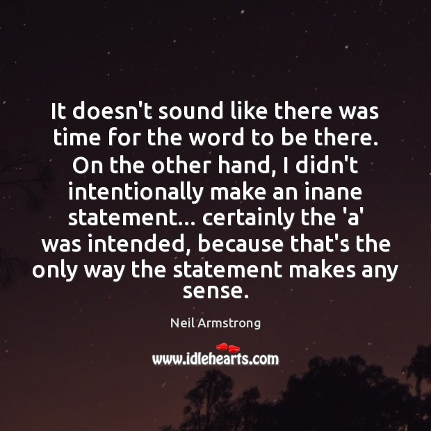 Image, It doesn't sound like there was time for the word to be